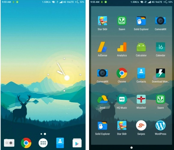 Minimal Nova Launcher theme for android