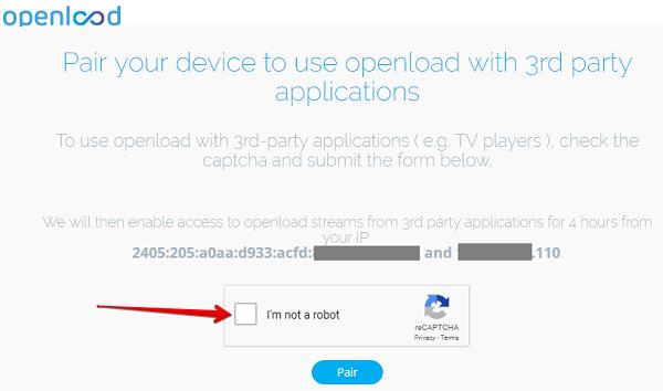 fix Openload.co/pair or olpair.com