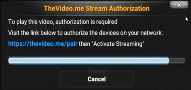 thevideo.me/pair, vidup.me/pair stream authorization