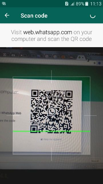 whatsapp on PC with scan QR code