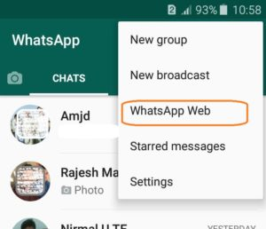 Whatsapp web on Mobile
