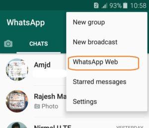 Whatsapp web on Mobile